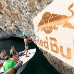 Read and Photographer Chris Pike talking filming strategy during setup of Red Bull Psicobloc 2017